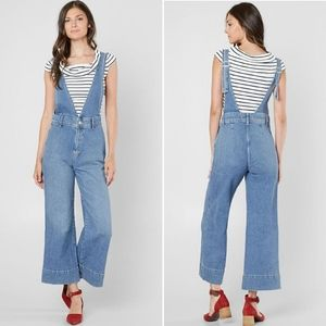 Free People Overalls A Line Deep V-Neck Fitted 4